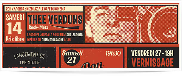 graphisme affiche concert café cinéma