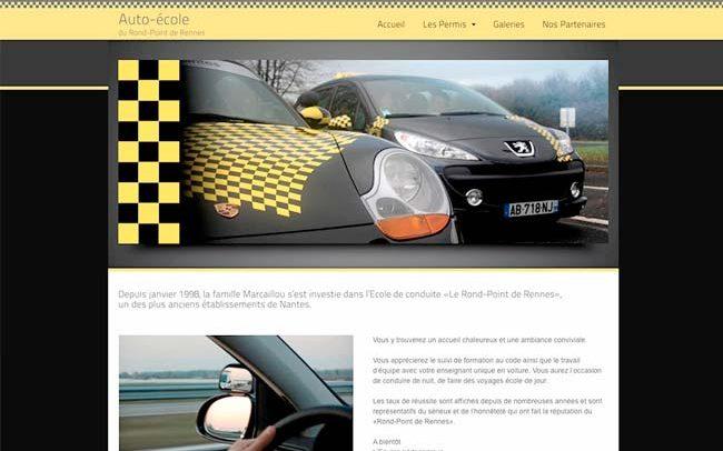 porfolio du site auto-ecole à nantes avec des voitures