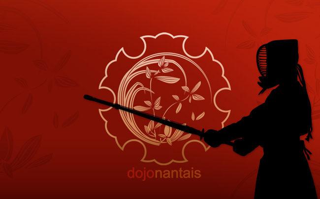 porfolio kendo avec silhouette kendoka
