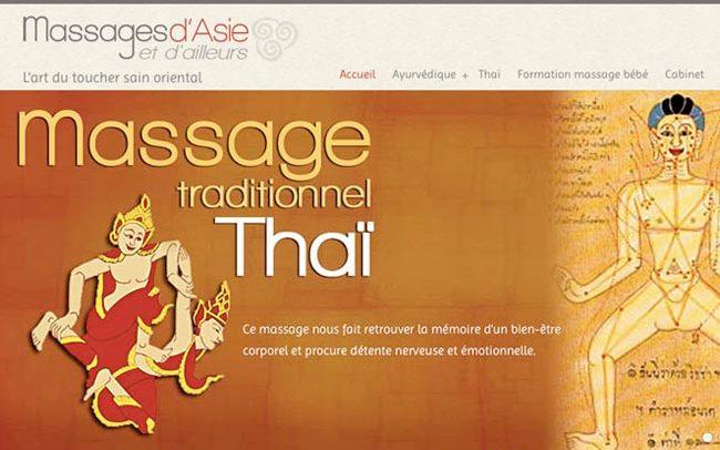 portfolio avec logo du site massage d'asie thaï