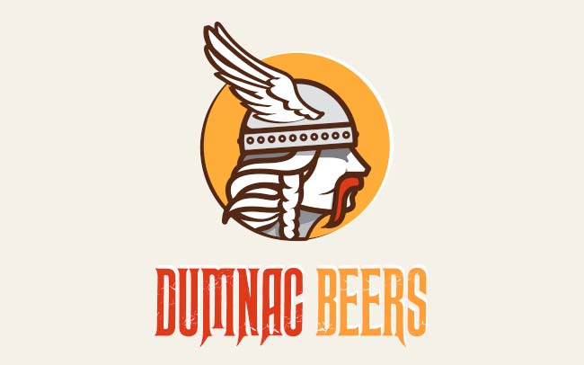 portfolio logo de bière dumnac beers