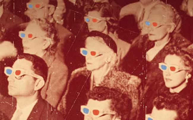 photo retouché d'un public au cinéma
