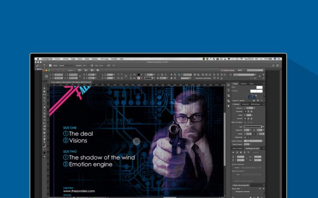 interface de graphisme avec indesign CC